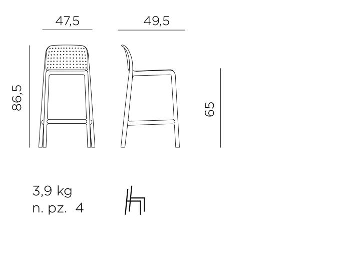 Lido mini stool