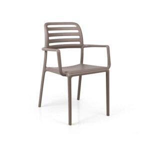Costa armchair tortora