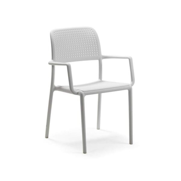 Bora armchair bianco